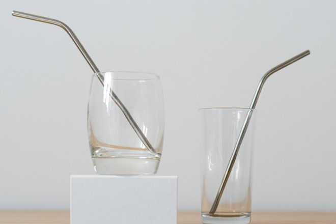 stainless straws glasses eco ban plastic